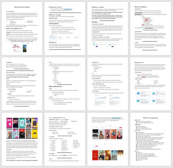 TikTok Ad Creation Checklist