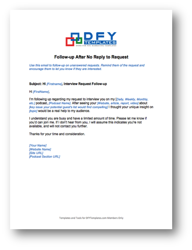 done for you podcast interview templates dfytemplates com