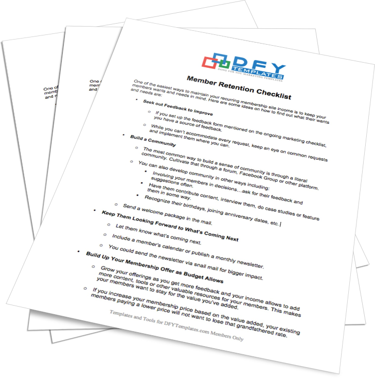 Member Retention Checklist