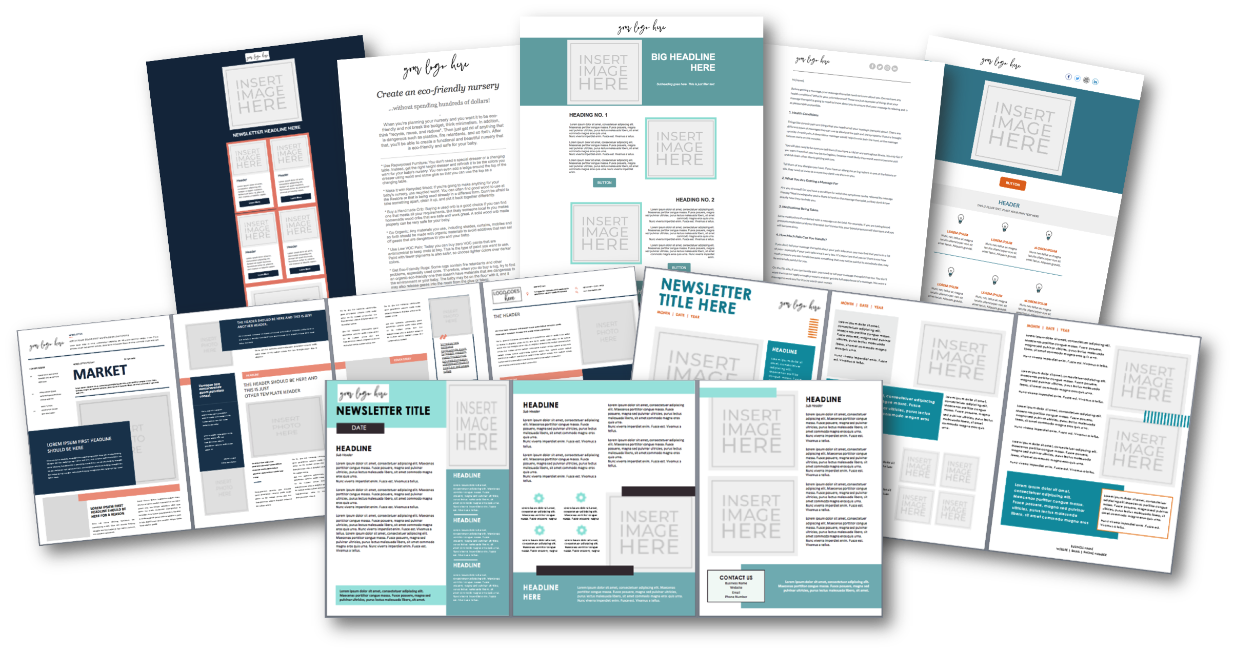 HTML and Word/PDF Newsletter Templates