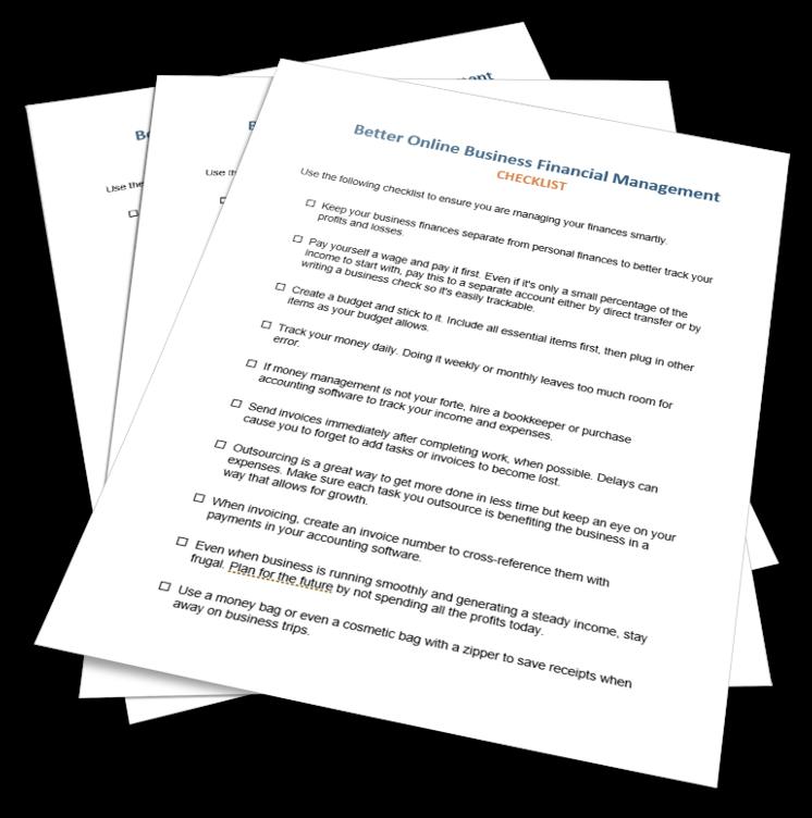 Better Business Finances Checklist
