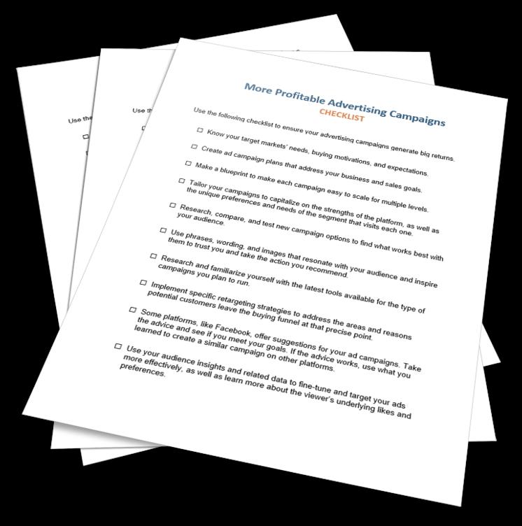 More Profitable Advertising Checklist