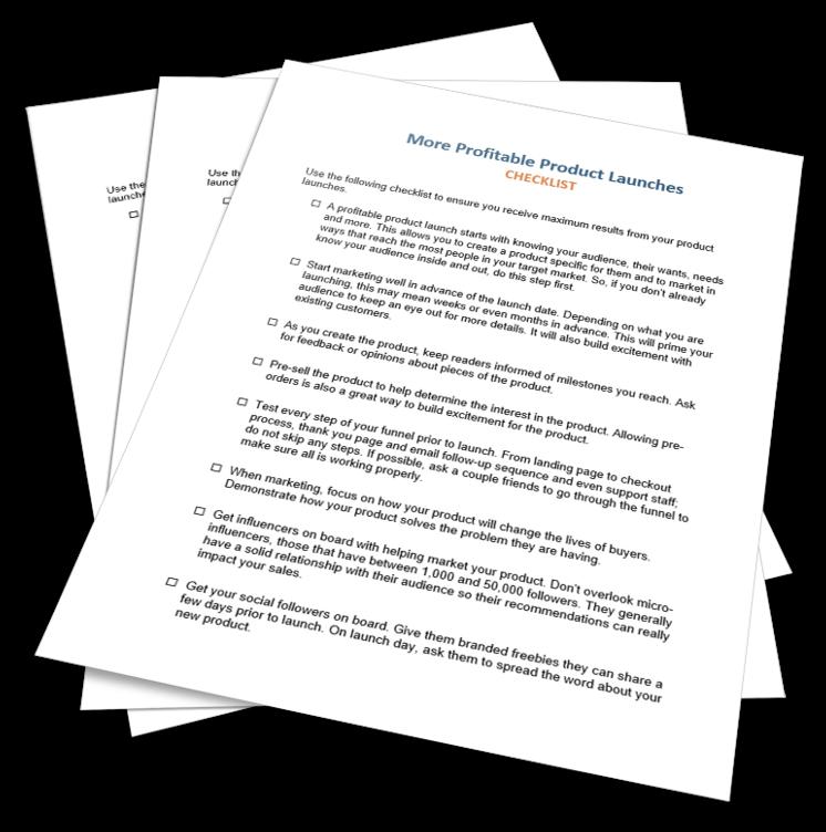 More Profitable Product Launches Checklist
