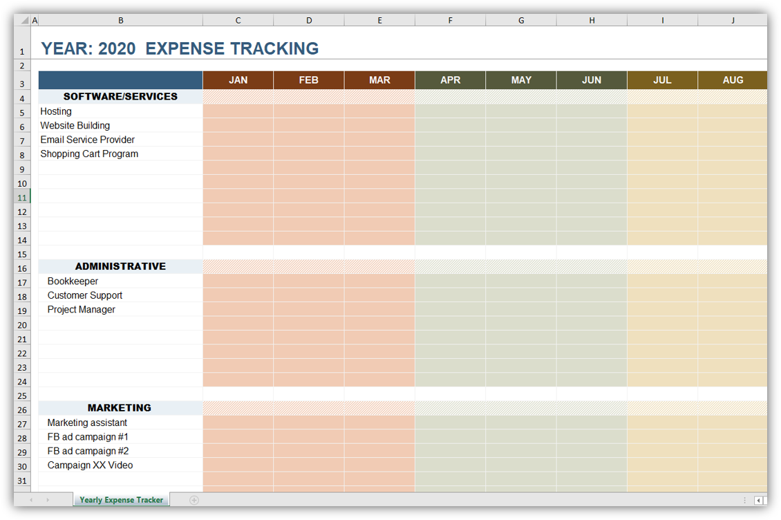 Online Business Budget Expense Tracker