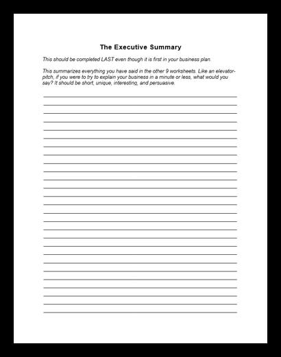1. The Executive Summary Image