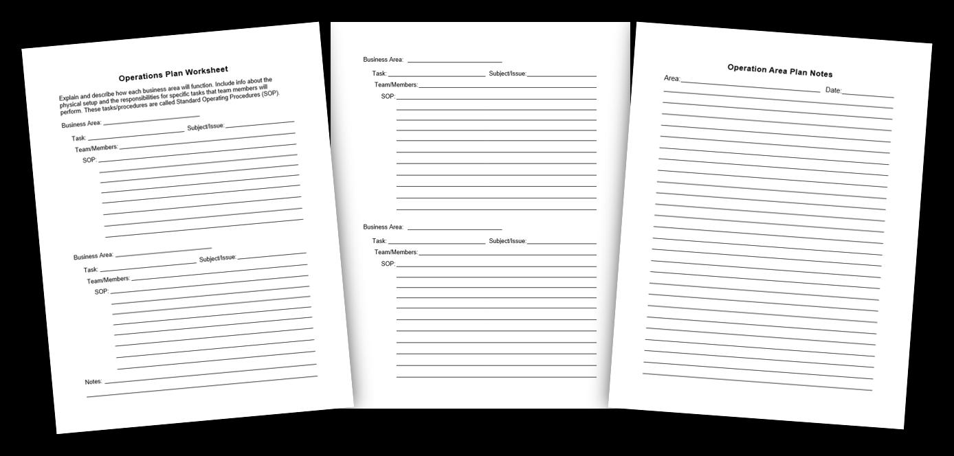 3. Operation Plan Worksheet Image