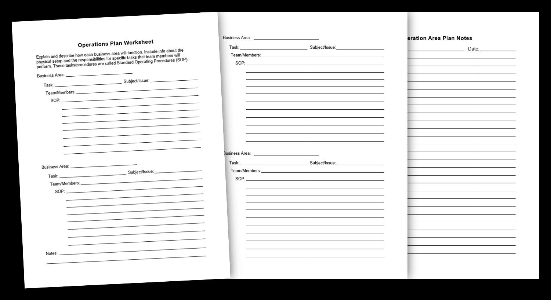 5. Operations Plan Worksheet
