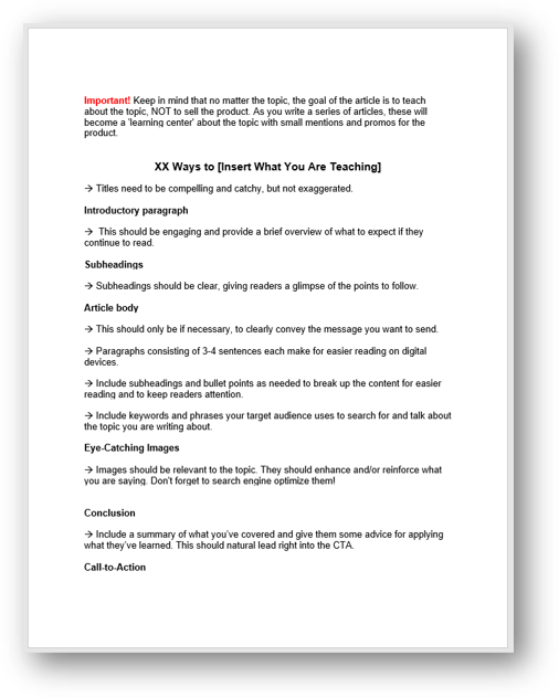 3 How to Article Template