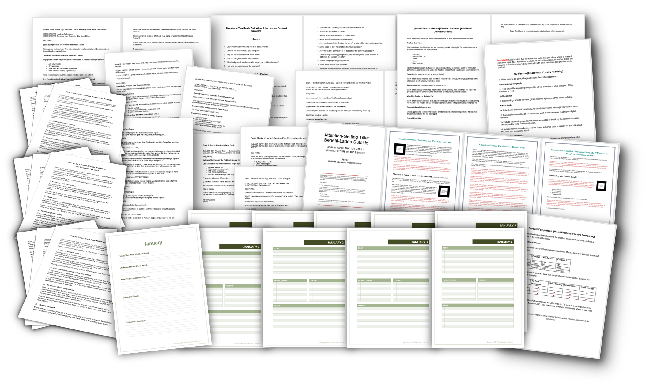 Sell More Affiliate Products Checklists, Templates and Planner FI