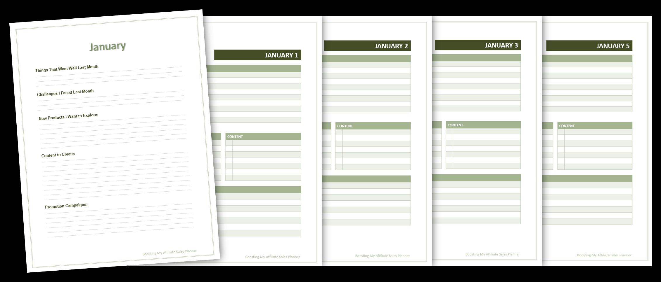 boosting my affiliate sales planner image 1