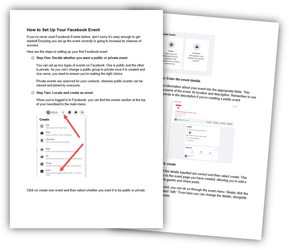 1 How to Set Up Your Facebook Event Checklist image