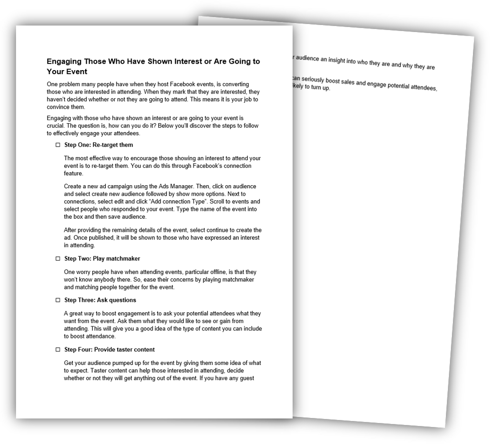 6 Engaging Those Who Have Showed Interest or are Going to Share Your Event Checklist image