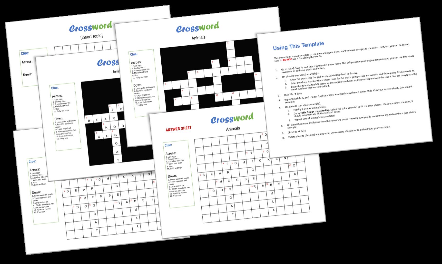 crossword template