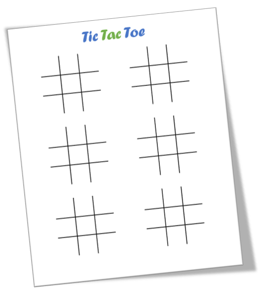 tic tac toe template